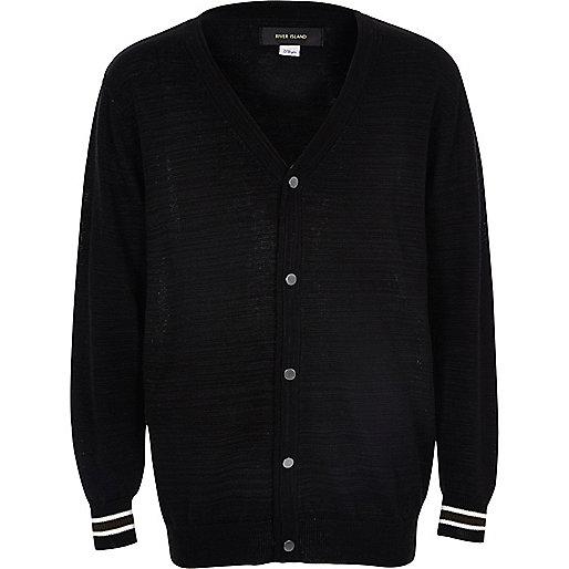 Cardigan oversize habillé noir pour garçon
