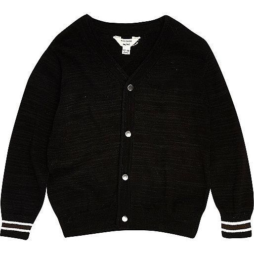 Mini boys black smart oversized cardigan