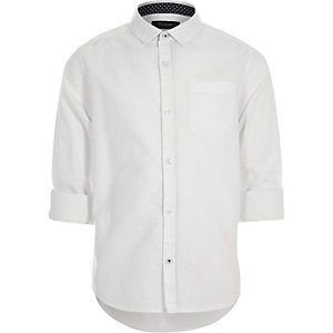 Boys white Oxford shirt