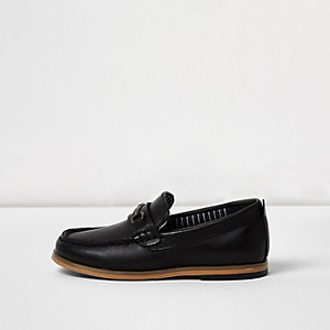 Mini boys black snaffle loafers