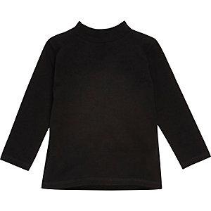 Mini boys black roll neck top