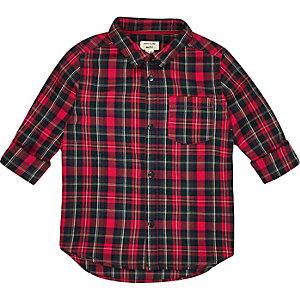 Chemise à carreaux rouge mini garçon