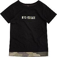 Mini boys black camo T-shirt