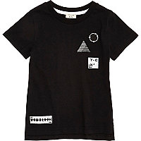 Mini boys black badge T-shirt