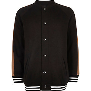 Boys black block bomber jacket