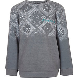 Boys grey paisley print sweatshirt