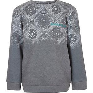 Graues Sweatshirt mit Paisley-Muster