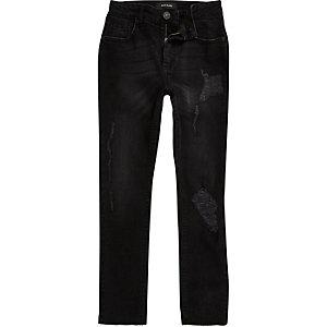 Sid – Schwarze, gerippte Skinny Jeans