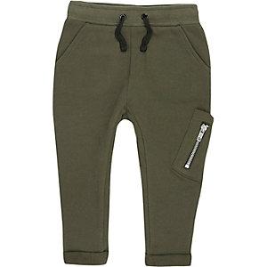 Pantalon de jogging vert kaki style fonctionnel mini garçon