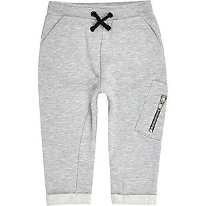 Mini boys grey utility joggers