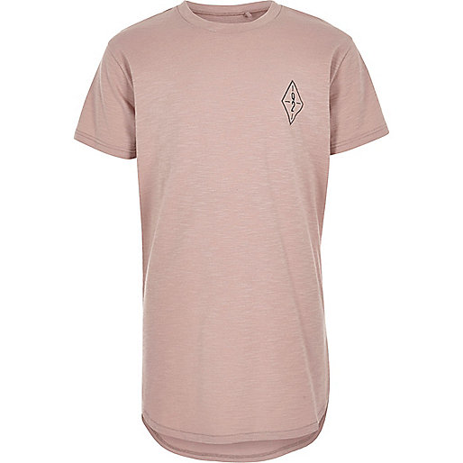 Boys pink graphic print T-shirt