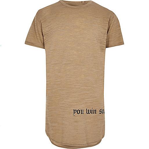 T-shirt grège imprimé Win Some Lose Some pour garçon