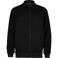 Boys black smart bomber jacket