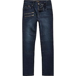 Boys blue wash Sid skinny biker jeans