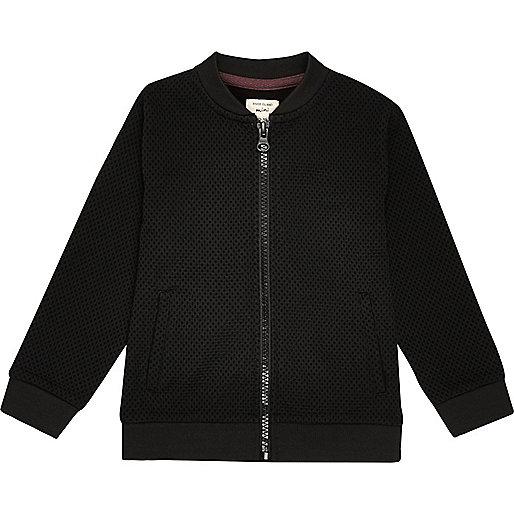 Mini boys black smart bomber jacket