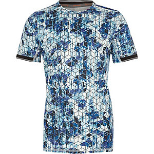RI Active – T-Shirt mit geometrischem Muster