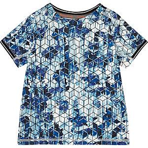 T-shirt RI Active à imprimé géométrique mini garçon