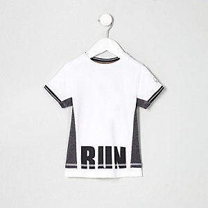 Mini boys RI Active white mesh T-shirt