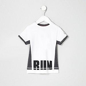 T-shirt RI Active en tulle blanc pour mini garçon