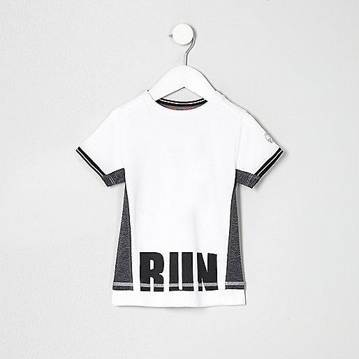 Mini boys RI Active white mesh T-shirt
