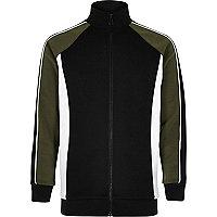 Boys khaki block bomber jacket