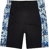Boys RI Active black printed panel shorts