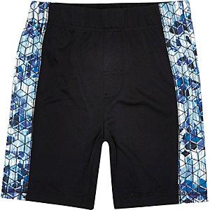 RI Active – Schwarze Shorts mit bedrucktem Einsatz