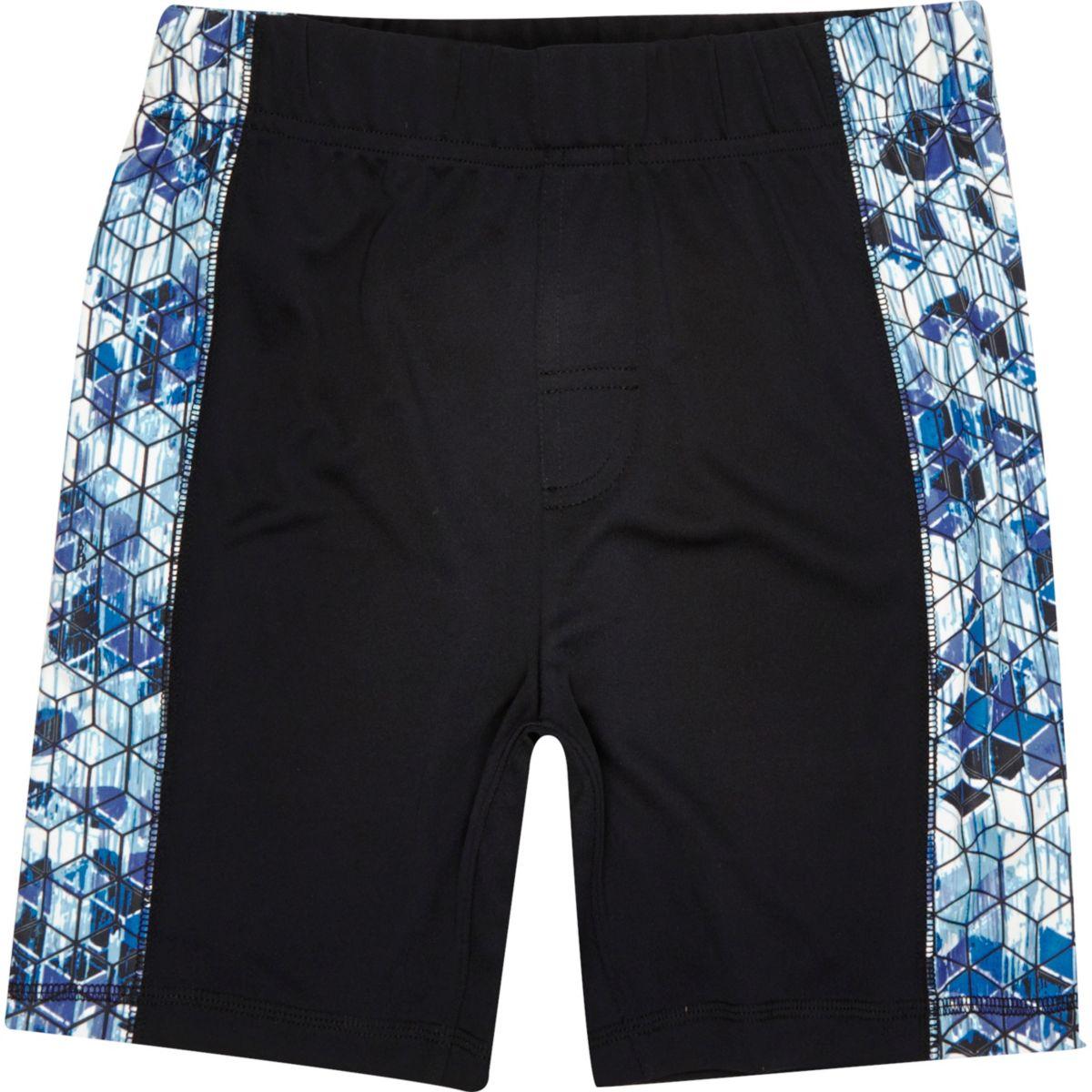 Boys RI Active black printed panel shorts