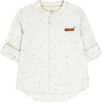 Mini boys ecru grandad shirt