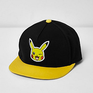 Boys black Pokémon Pikachu cap