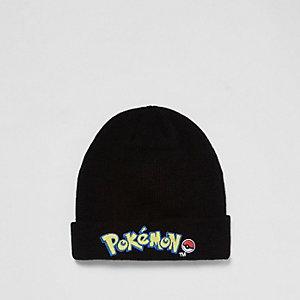 Boys black Pokémon badge beanie