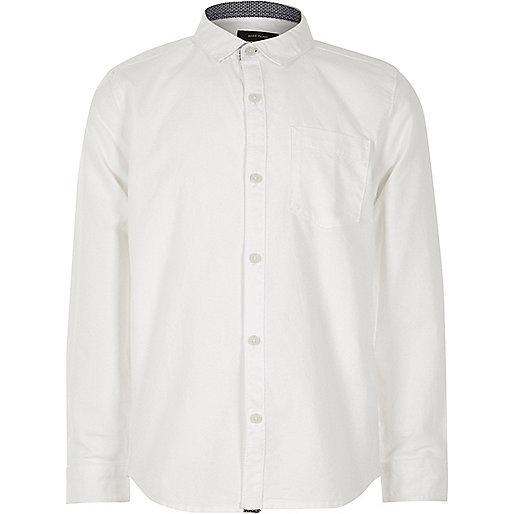 Boys white casual Oxford shirt