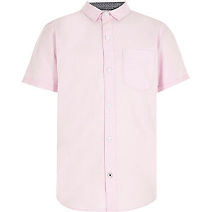 Boys pink casual Oxford shirt