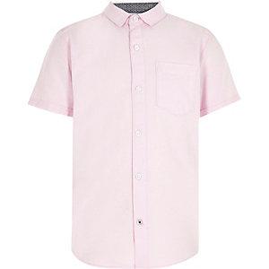 Roze casual Oxford overhemd voor jongens
