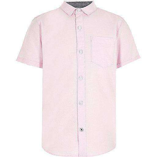 Boys pink casual Oxford shirt