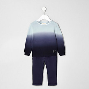 Mini boys dip dye sweater and chino set