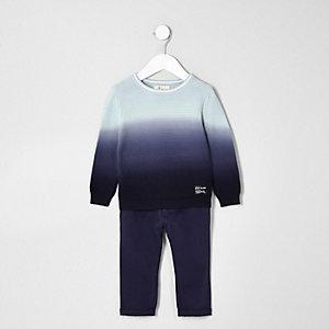 Ensemble pantalon chino et pull teint par section mini garçon