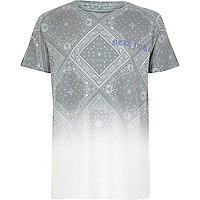 Boys white faded paisley print T-shirt