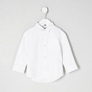Mini - wit net overhemd voor jongens