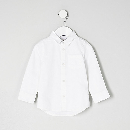 Mini boys white smart shirt