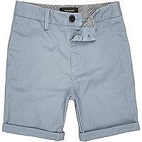 Boys blue chino shorts