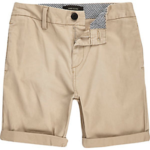Boys light brown chino shorts