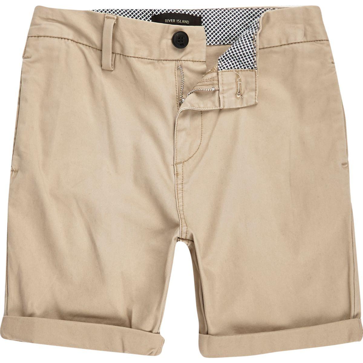 Boys light brown chino shorts