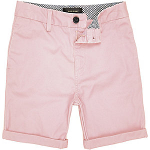 Boys pink chino shorts