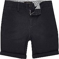 Boys navy chino shorts