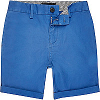Short chino bleu pour garçon