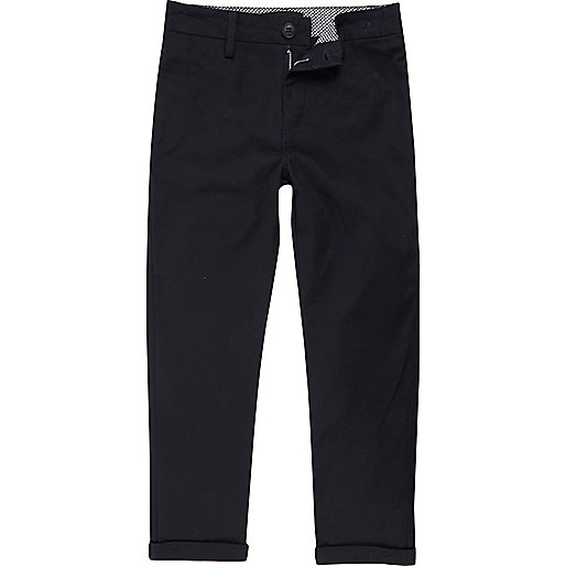 Boys navy blue chino trousers