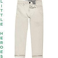 Pantalon chino grège pour garçon