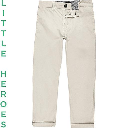 Boys stone chino trousers