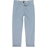 Boys light blue chino trousers